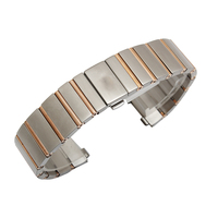 New Watchbands , 23*10mm Stainless Steel Bracelet Strap Replacement Wristwatches belt concave end special,buckle has logo