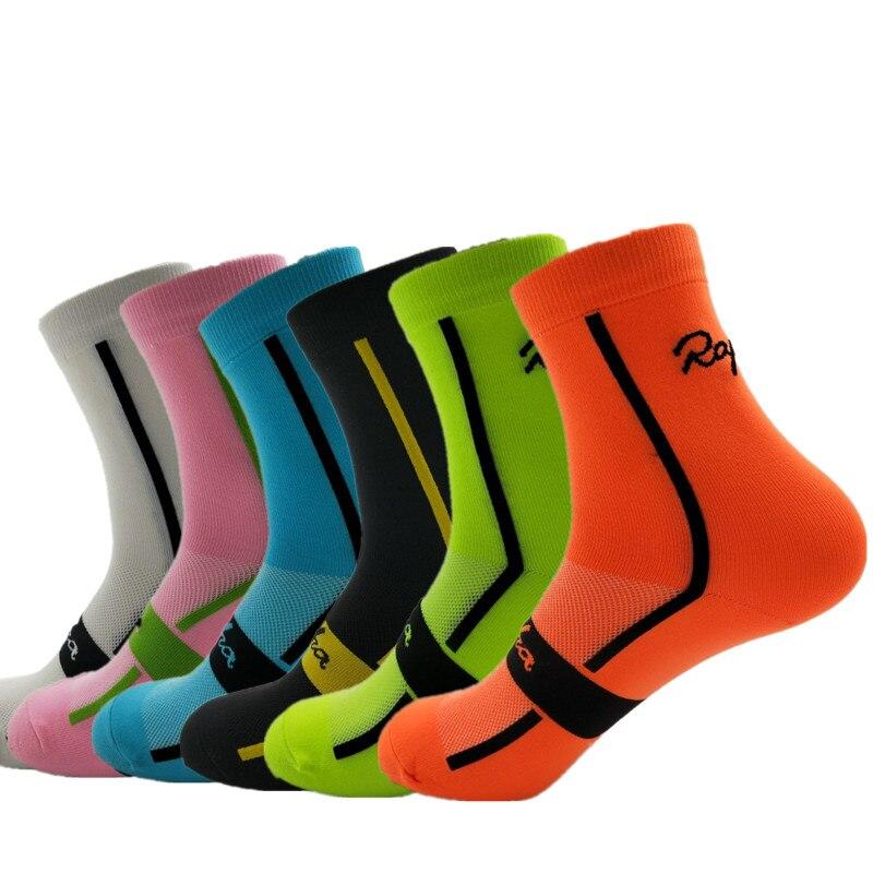 RApha New Arrival Unisex Men Outdoor Cycling Socks Sport Running Footwear Breathable Women Bike Socks 6 Colors