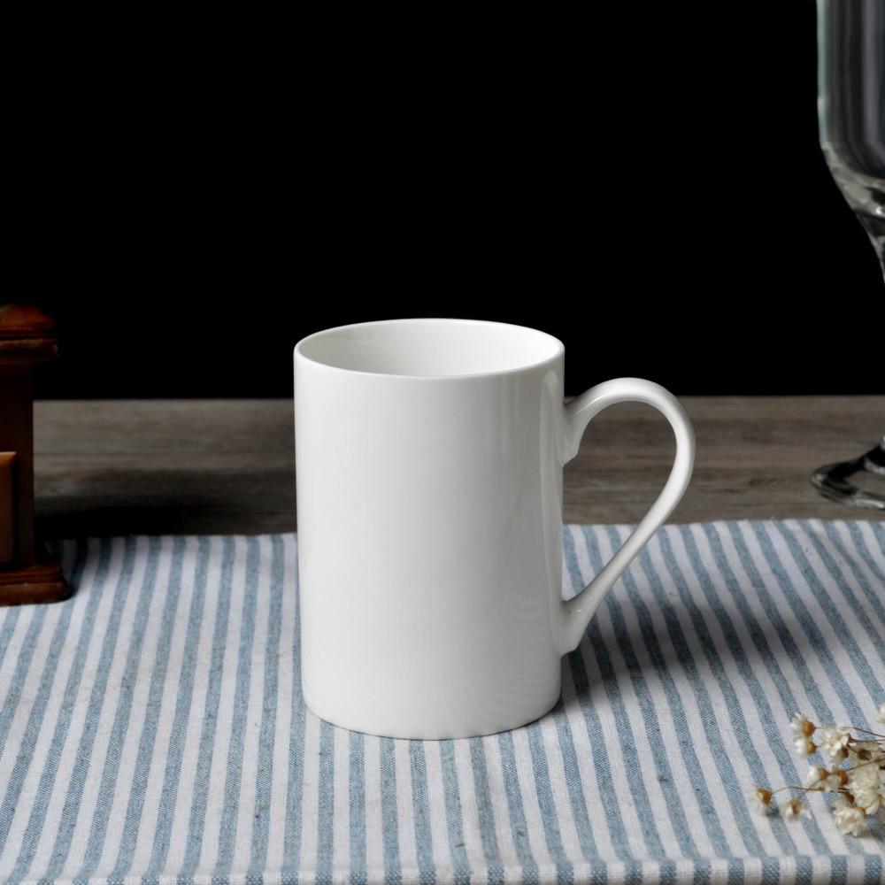 dhl free shipping ceramic plain white straight shape coffee mugs porcelain water cups drinkware 48pcs