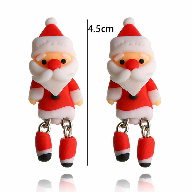 2018 Новая мода Санта Клаус ювелирные изделия рождественские серьги женские серьги год милый лучший подарок Горячая Прямая доставка