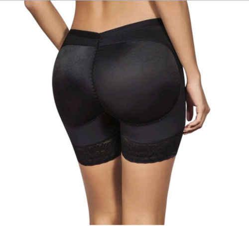 Quente acolchoado bum confortável rendas retalhos moda oco para fora calças enhancer shaper bunda levantador booty boyshorts roupa interior