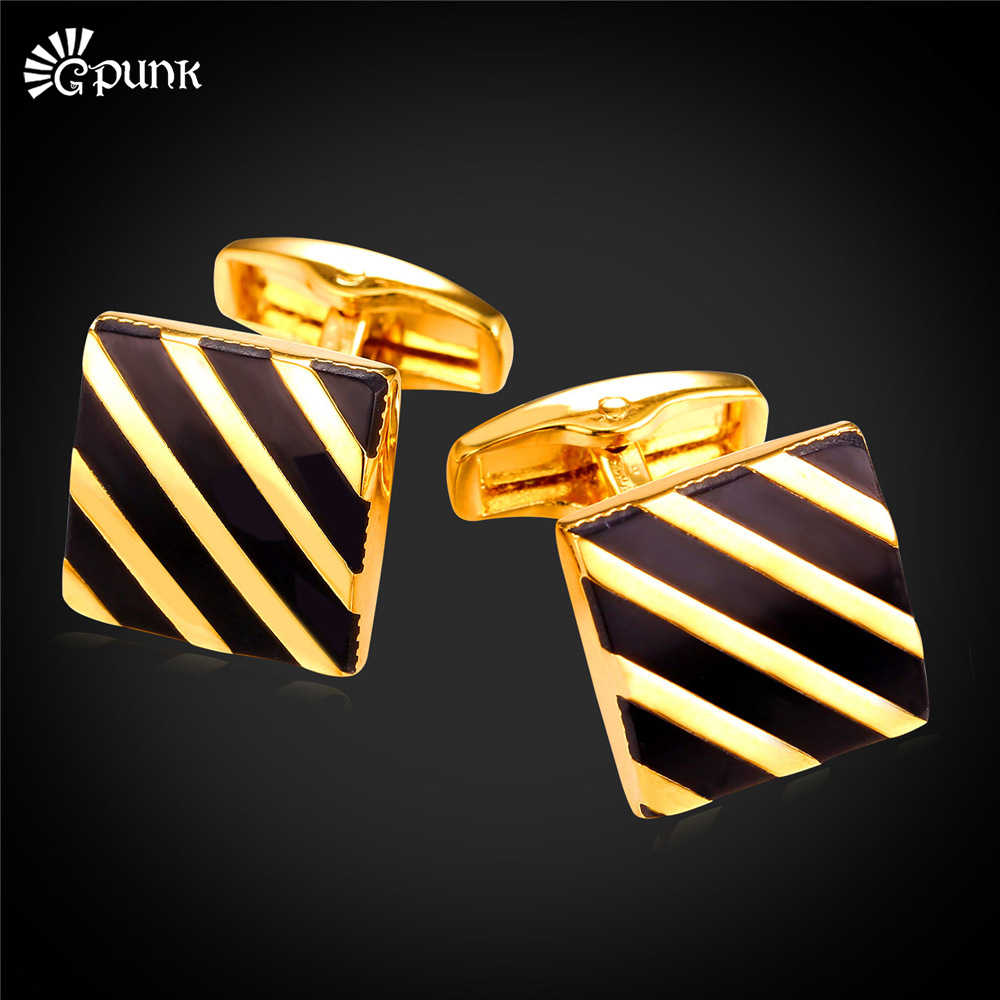 Vintage Diagonal Stiripes Business Men Cufflinks French Shirts Cuff Button With Gift Box High Male Wholesale New C2115G