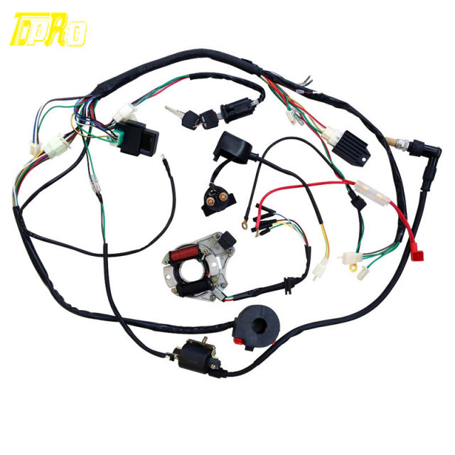 online shop stock in usa 50 70 90 110cc 125cc wire harness wiring rh m aliexpress com