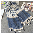 1PC 2016 Summer New Korean Style Acrylic Cotton Women Fashion Thin Scarf Woman Voile Tassels Thin Shawls Pashminas