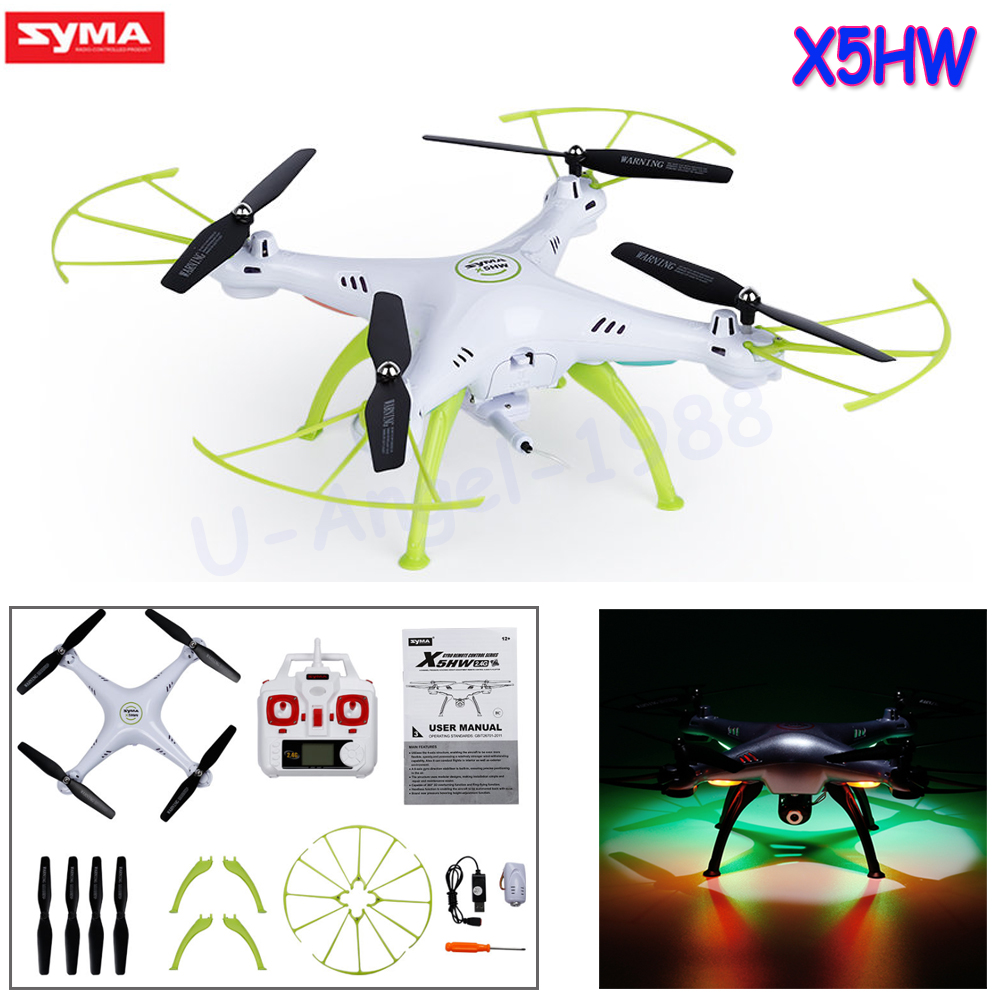 Syma X5HW FPV RC Quadcopter Drone with WIFI Camera 6-Axis 2.4G RC Helicopter Quadrocopter Toys VS Syma X5SW X5C with two batteries yuneec q500 4k camera with st10 10ch 5 8g transmitter fpv quadcopter drone handheld gimbal case
