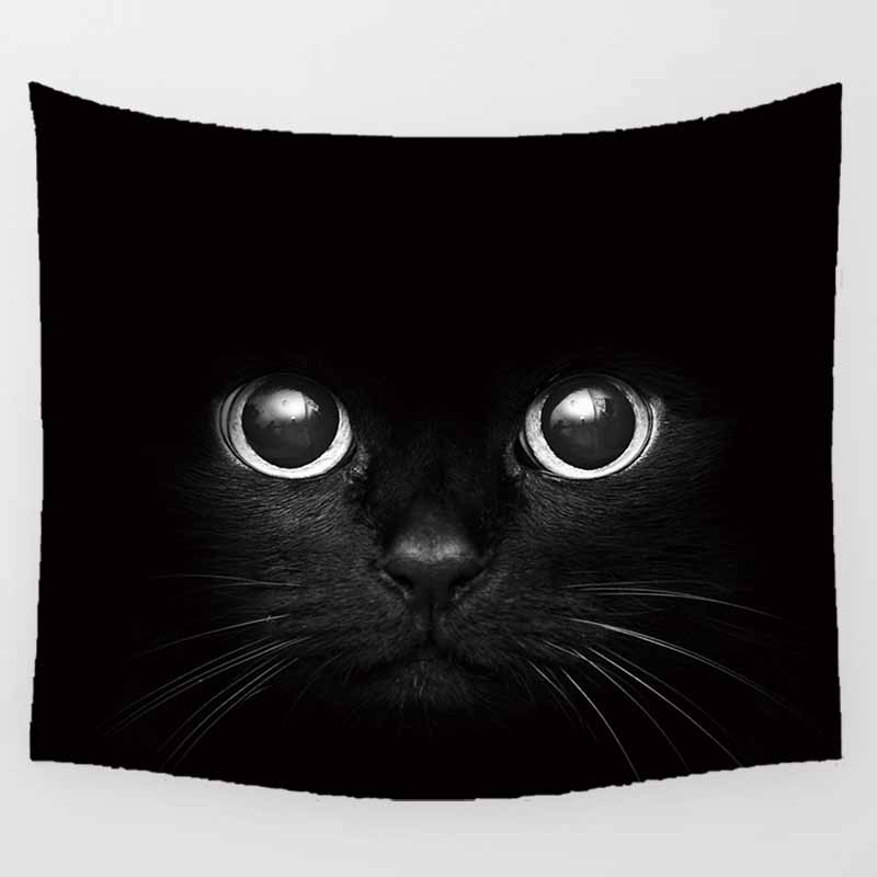 Hot sale animal cats sunset wall hanging tapestry home decoration wall tapestry tapiz pared L 200 150cm M 150 130cm in Tapestry from Home Garden