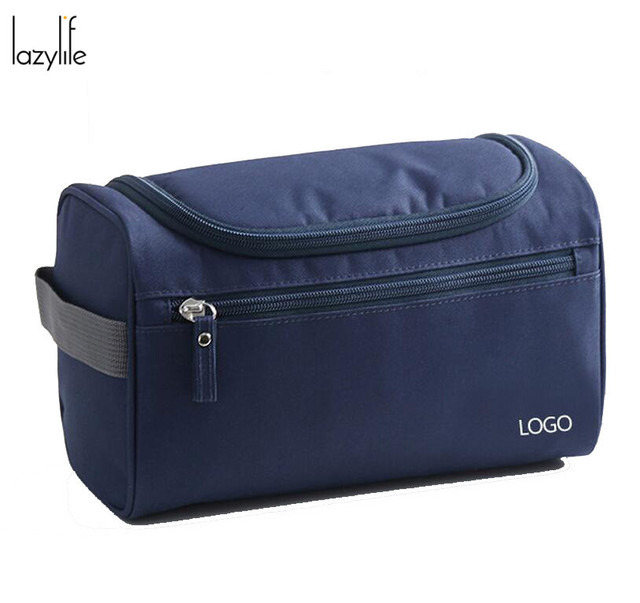 LAZYLIFE Fashion Men Cosmetic Makeup Bag Travel Organizer Functional Bag Cosmetic Storage Makeup Bag Beautician Makeup Bag