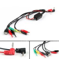 Areyourshop Sale 10Pcs 7 in 1 Multimeter Test/Repair Cable 4mm Banana Plug to Clip/hook/USB Female