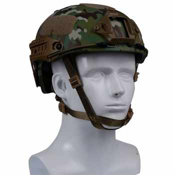 *Military Tactical Fast Helmet Advanced Airsoft Gear Paintball Head Protector Sports Safety Adjustment Side Rail+Cotton Pads*