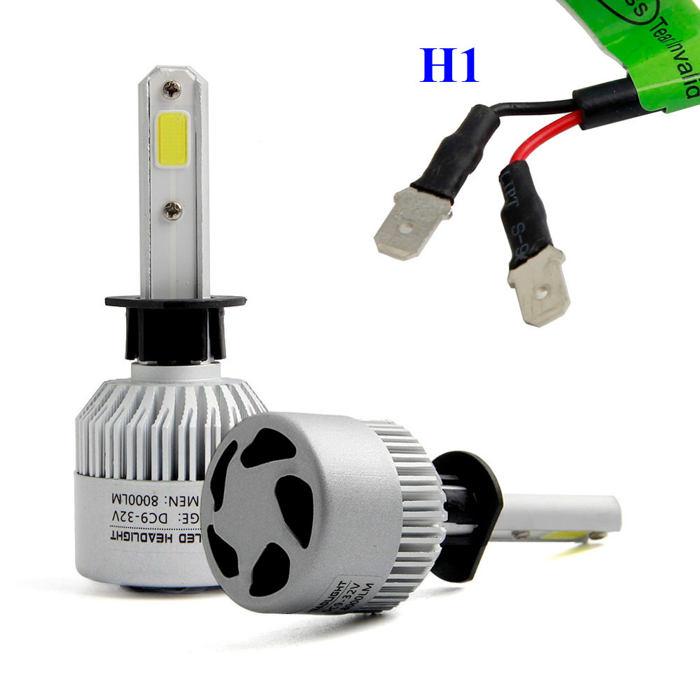 H1 110W 16000LM LED Headlight Conversion Kit  Led lamp for auto Light bulb led car lights 12v universal 6000k turn signal lamp pretty h7 110w 20000lm led headlight conversion kit car beam bulb driving lamp 6000k fe15