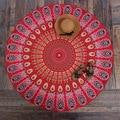 New Round Polyester Aztec Print Beach Blanket Indian Mandala Tapestry