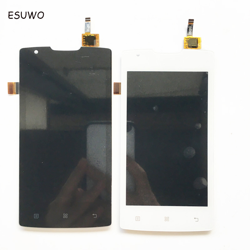 ESUWO Lcd With Touch Screen Complete For Lenovo A1000 LCD Touch Digitizer Assembly Black White Color