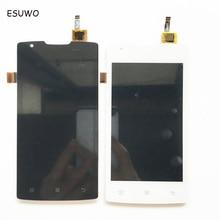 ESUWO Lcd Con Pantalla Táctil Completa Para Lenovo A1000 LCD Táctil Digitalizador Asamblea Negro Color Blanco