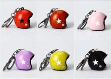 new 10 PCS New Motorcycle Helmets Key chain Women men Cute Safety Helmet Car Keychain Bags Hot Ring gift Jewelry