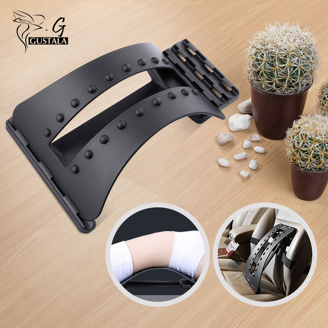 Gustala Back Massager Stretcher Fitness Massage Equipment Stretch Relax Stretcher Lumbar Support Spine Pain Relief Chiropractic 1