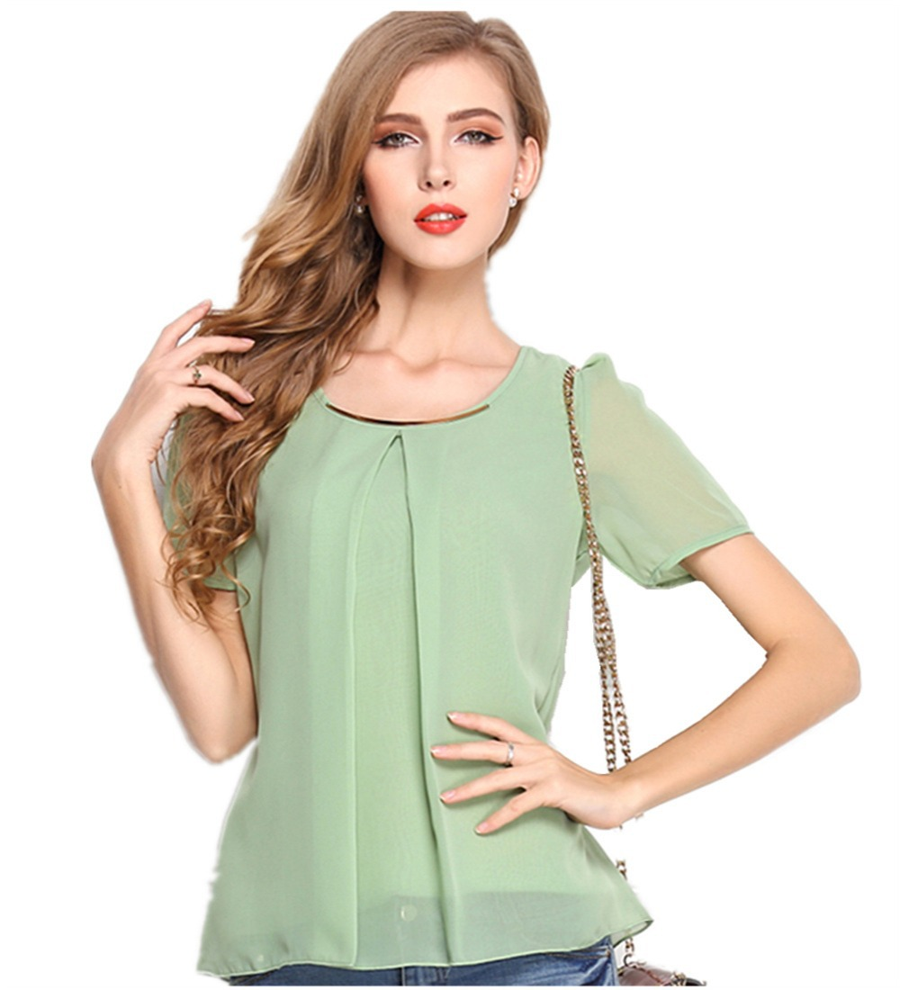 Aliexpress.com : Buy Women's Casual Loose Solid Color Short Sleeve ...