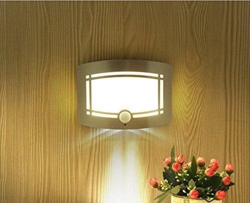 ФОТО Aluminum Battery Operated IR Motion Sensor LED Wall lamp Led Night Light (White)