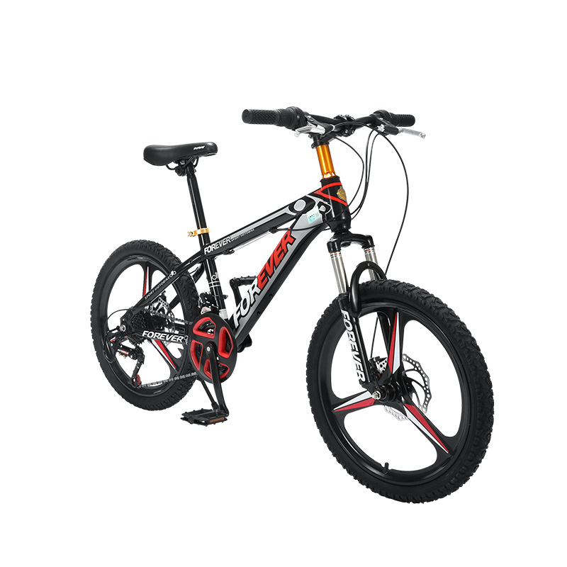 Double Disc Brake For 24 Speed 20 Inch Variable Speed High Carbon Steel Frame Of Mountain Bicycle For Children And Adolescents