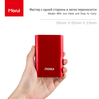 MORUI 10000 mAh Mini Power Bank MG10 Metal Powerbank Portable Charging Treasure Dual USB Output Phone Charger for Smart Phone