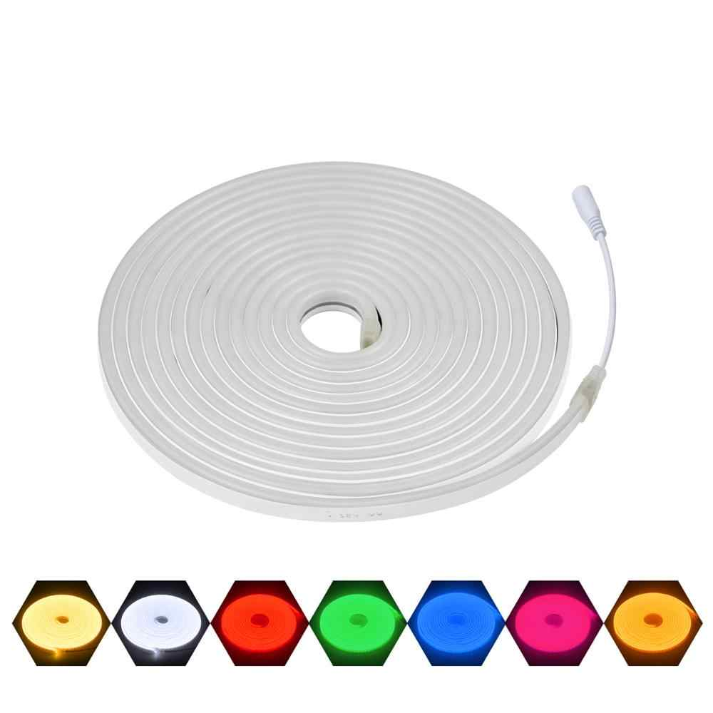 DC 12 V LED luz de neón LED tira de neón señal de lámpara impermeable Flexible cinta de cinta LED DIY Home Party Bar club KTV iluminación Venta caliente