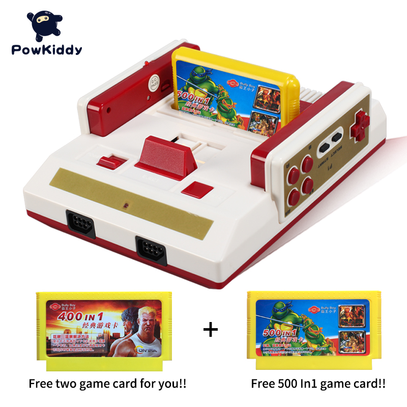 POWKIDDY Hot Video Game Console To TV With Wireless Gamepad Controller retro classic console HD TV Out For 8bit Family TV game classic retro game console upgraded