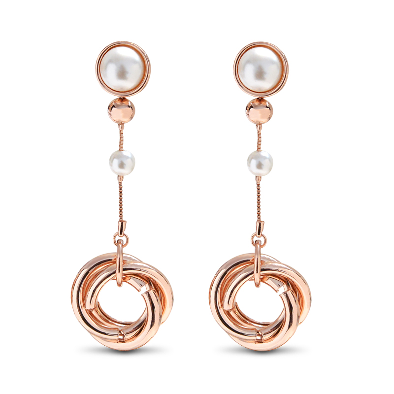 YANDA 2018 Vintage Pearl Long Earrings For Women Gril Classic Round Dangle Drop Female Brinco Earring Party Charm Jewelry Gift