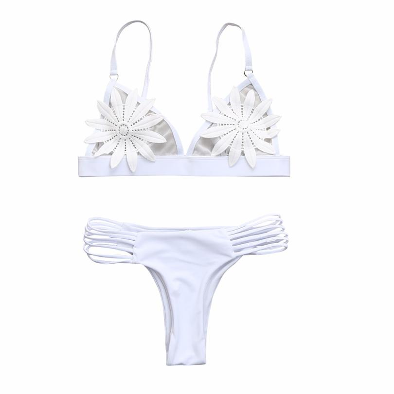 snowshine3 YLI Women Push-up Padded Bra Floral Bikini Set Swimsuit Swimwear Bathing