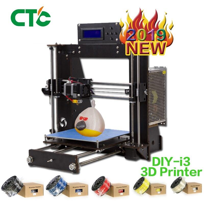 Vente chaude améliorée pleine qualité haute précision Reprap Prusa i3 bricolage 3D imprimante pour la modélisation UK USA Stock