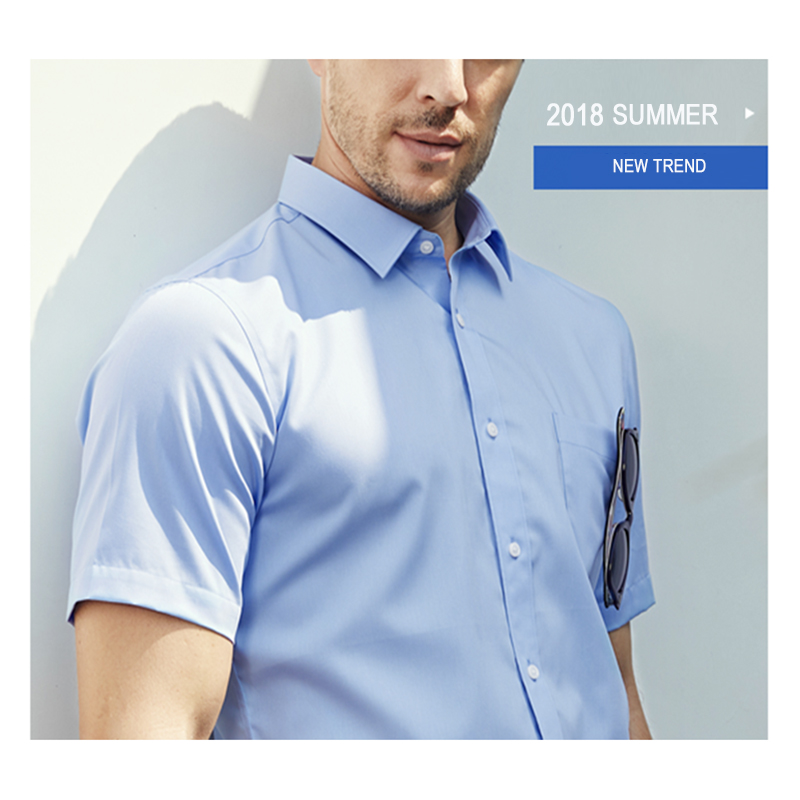 WOOD LAKE 2018 الصيف camisa الغمد الرجال - ملابس رجالية