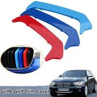 3Pcs Tricolor Plastic Front Center Grille Cover Trim For BMW 1Series F20/F21 12-14