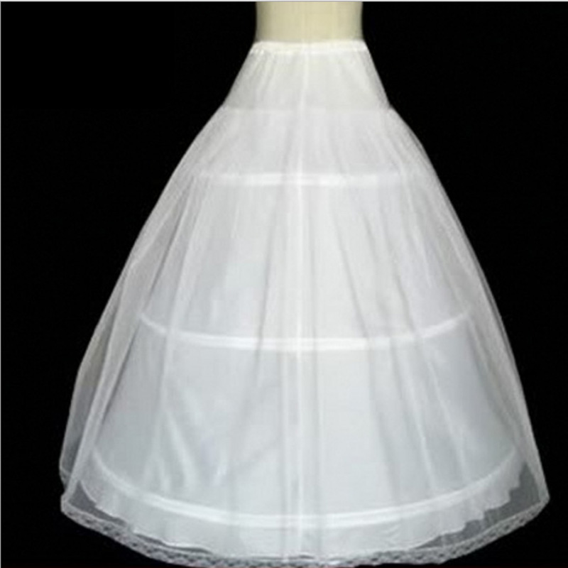 Image 3 - In Stock Hot Sale 3 Hoops Ball Gown Bone Full Crinoline Petticoats For Wedding Dress Wedding Skirt  Quinceanera Dress Petticoat-in Petticoats from Weddings & Events