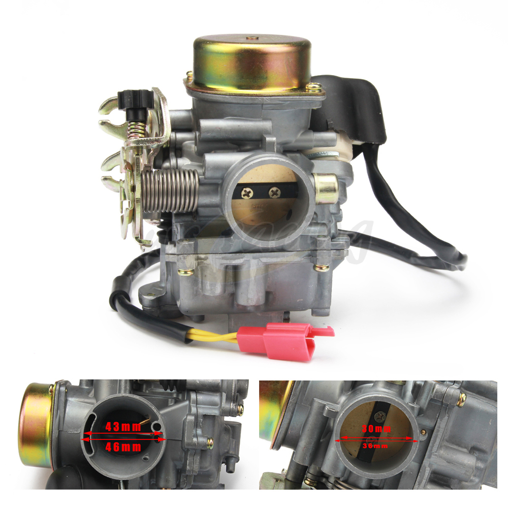 Motorcycle CVK 30MM CVK30 Carb Carburetor For GY6 150 VOG TANK 260CC 200CC 250CC Engines ATV Scooter Dit Bike alconstar cvk30 carburetor with heater for aeolus vog atv utv tank 260 yp250 xy260t linhai 260 scooter for honda for yamaha