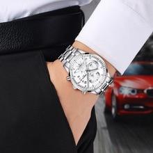 NIBOSI Homens Relógios Top De Luxo Da Marca Homens Relógio de ouro Relogio masculino Analógico Quartz Relógio de Pulso Militar Do Exército preto branco azul