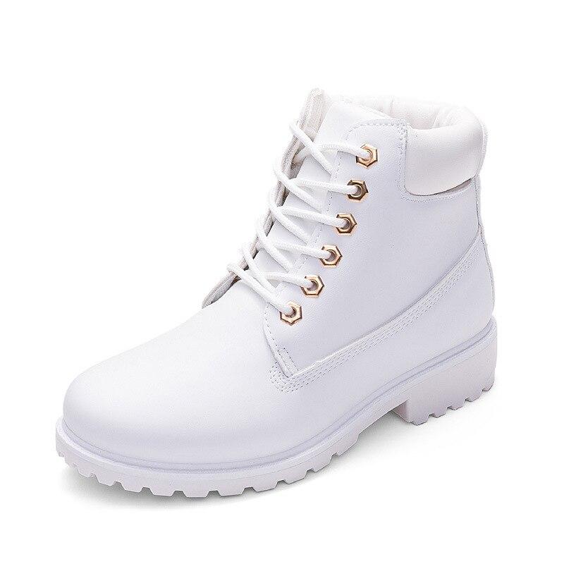 blanco La gris Las Mujer amarillo Zapatos Moda De Botas 2018 Invierno Mujeres Feminina rosado Negro marrón Tobillo Martin verde qTRSPWp6