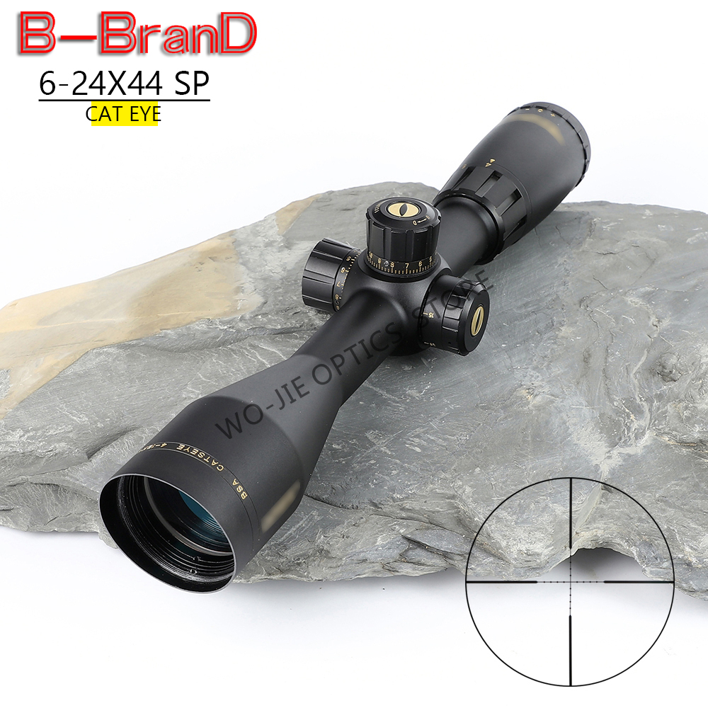 BSA 6-24X44 SP Tactical Riflescope Sniper Optic Sight Hunting Scopes Rifle Air Red Dot Airsoft Rifle Accessories Rifle Scope