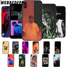 WEBBEDEPP Travis Scott cactus la flame Soft Case for iPhone 5 5S 6 6S 7 8 Plus X XS 11 Pro MAX XR Cover