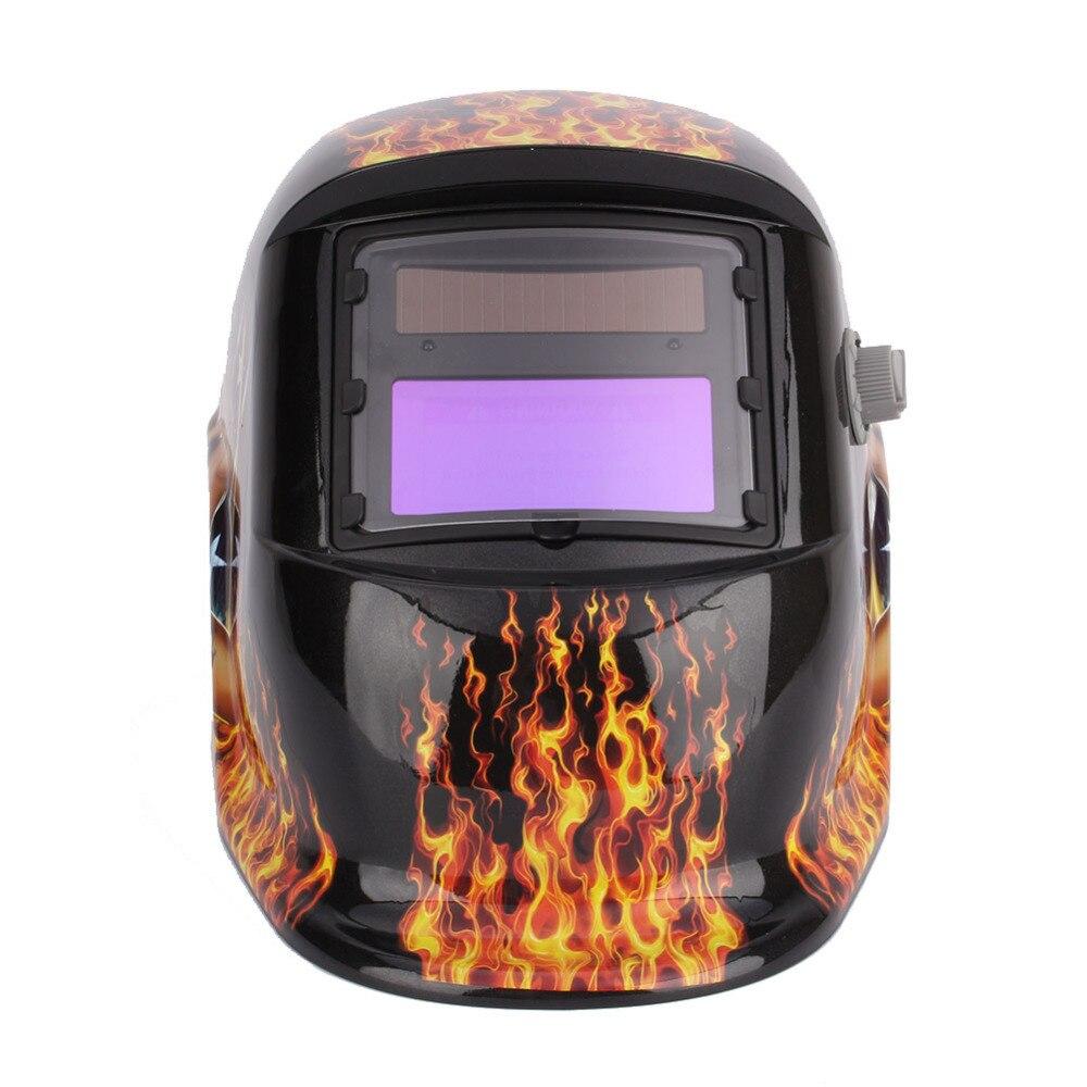 Pro Welding Helmet Solar Auto Darkening Flame Welding Helmet Arc Tig Mig Mask Grinding Electric Welder Lens Cap  цены