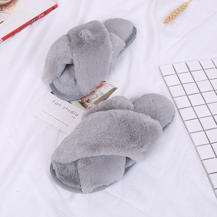 Winter Slippers Women Shors Flat Sweet Home Slippers Woman Indoor Shoes Fur Warm Soft Slip On Black fur slippers все цены