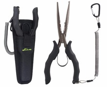 Booms Fishing F3 Fishing Pliers Used for Grip Hooks Split Rings and Crimping Sleeves Fishing Tools with Coil Lanyard and Sheath