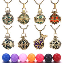Mexico Chime Music Bell Angel Ball Caller Locket Necklace Vintage Aromatherapy Essential Oil Pregnant Women Pregnancy Necklace(China)
