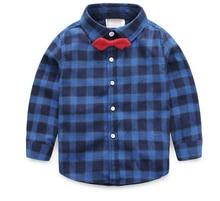 Fashion baby boy clothes Spring Summer Autumn nova brand boys blouses & shirts plaid children clothing accessories child shirt