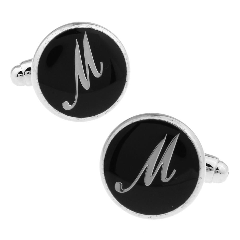 Men Cufflinks Custom Wedding Cufflinks Gift Letters Shirt Cufflinks Custom  A Best Gift The Letter M 168490-In Tie Clips & Cufflinks From Jewelry