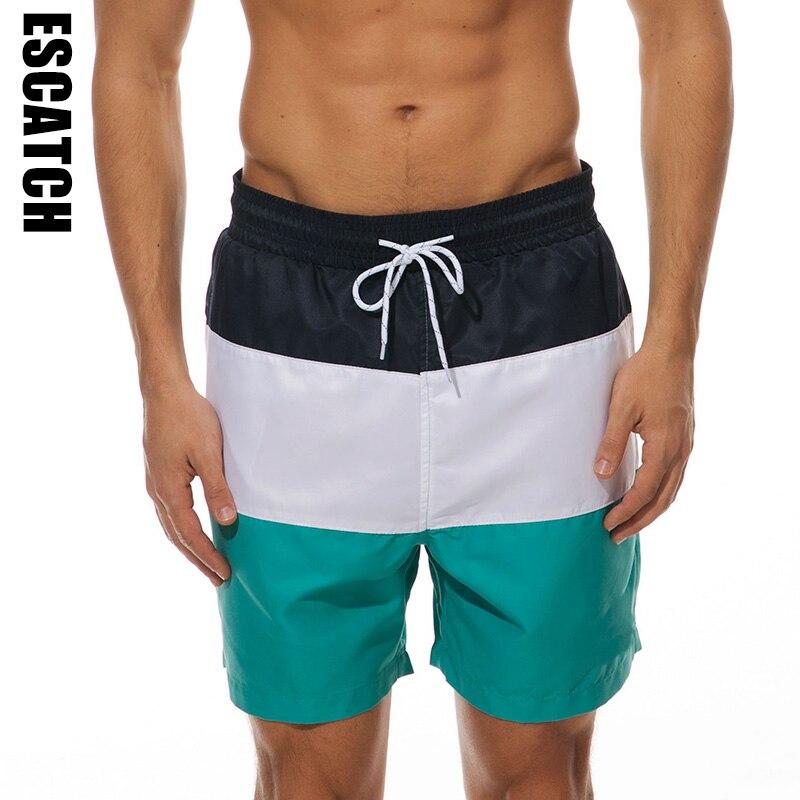 Men Swim Trunks Board Shorts Stretch Board Adjustable Running Shorts
