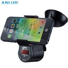 FM09 Multi función Manos Libres Kit de Coche Transmisor FM Reproductor de Audio MP3 con Succión del Montaje Del Coche para el Teléfono Móvil GPS