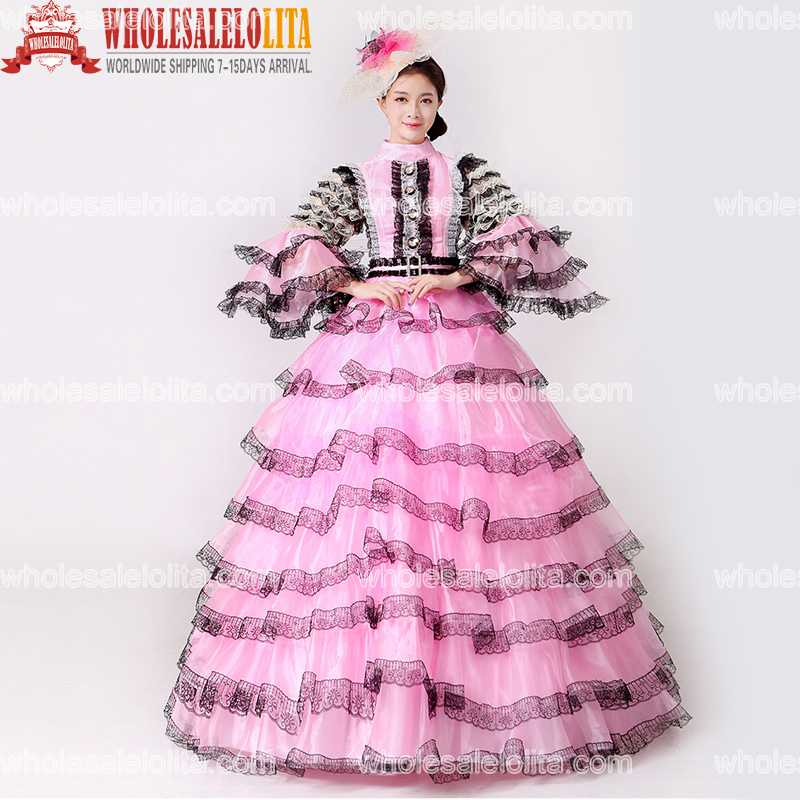 Rococo Baroque Marie Antoinette Renaissance Princess Dress Historical Victorian Period Dress For Ladies колесные диски tech line 632 6 5х16 5х105 d56 6 ет39 s ch