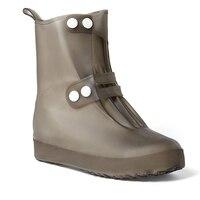 1 Pair Reusable Waterproof Shoe Covers Anti Slip Overshoes Rain Boots Travel Rain Gear For Women