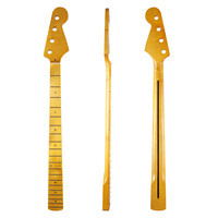KAISH 20 Fret 4 String P Bass Guitar Canadian Maple Neck with Abalone Shell Inlay and Bone Nut for Precision Bass