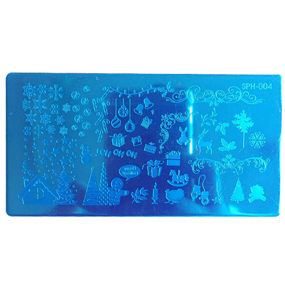 Christmas Nail Art Stamping Plates Designs Manicure Printer Tool DIY Nailart Image Stamp Stamper Template High Quality Stick