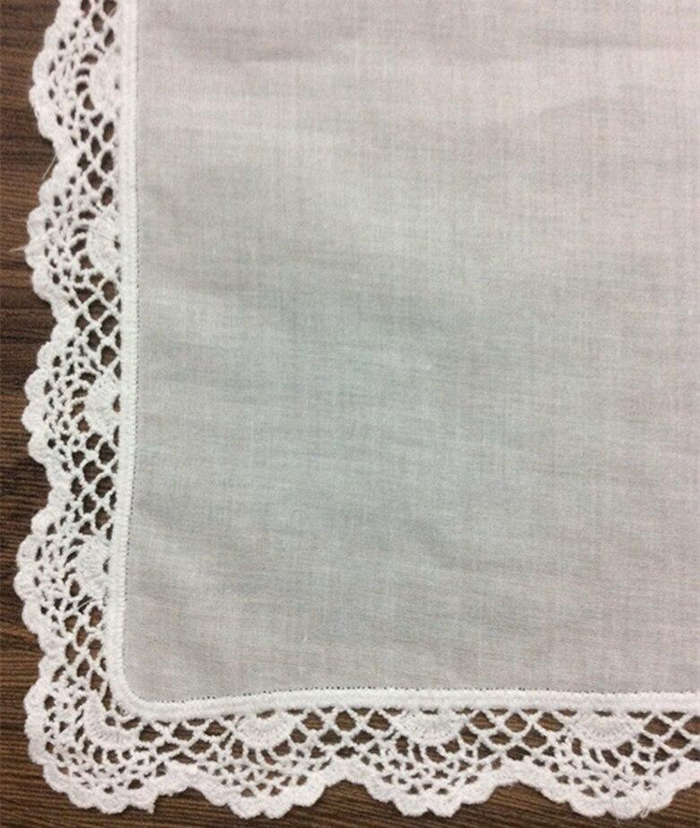 Set 12 Fashion frauen Taschentuch Weißer Baumwolle Hochzeit ...