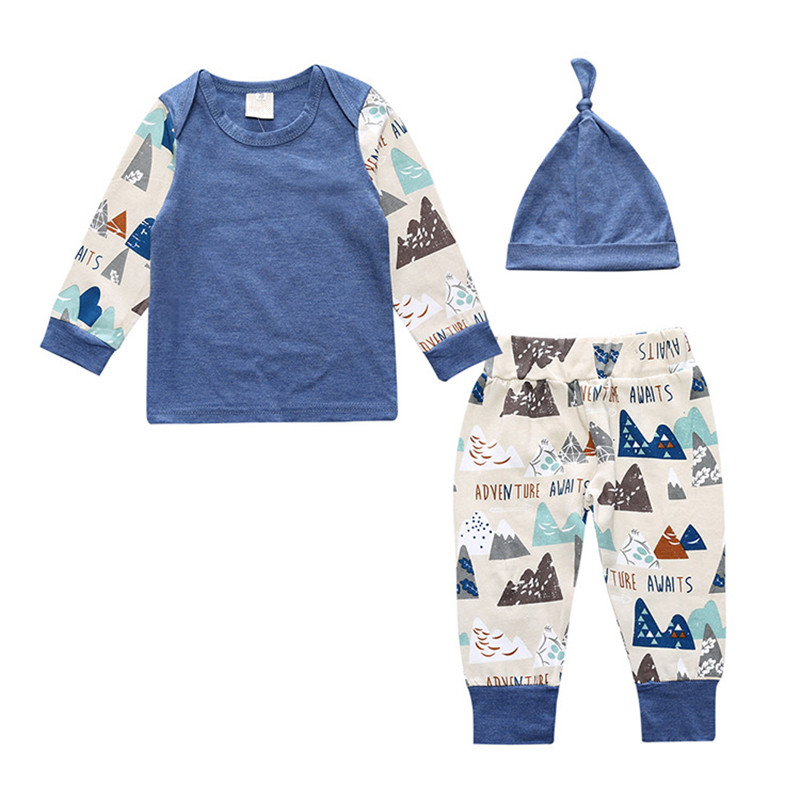3pcs Baby Girl Clothing Set Cotton Baby Boy Clothing Set Newborn Baby Clothes Autumn Roupas Bebe Longsleeve Kids Clothes